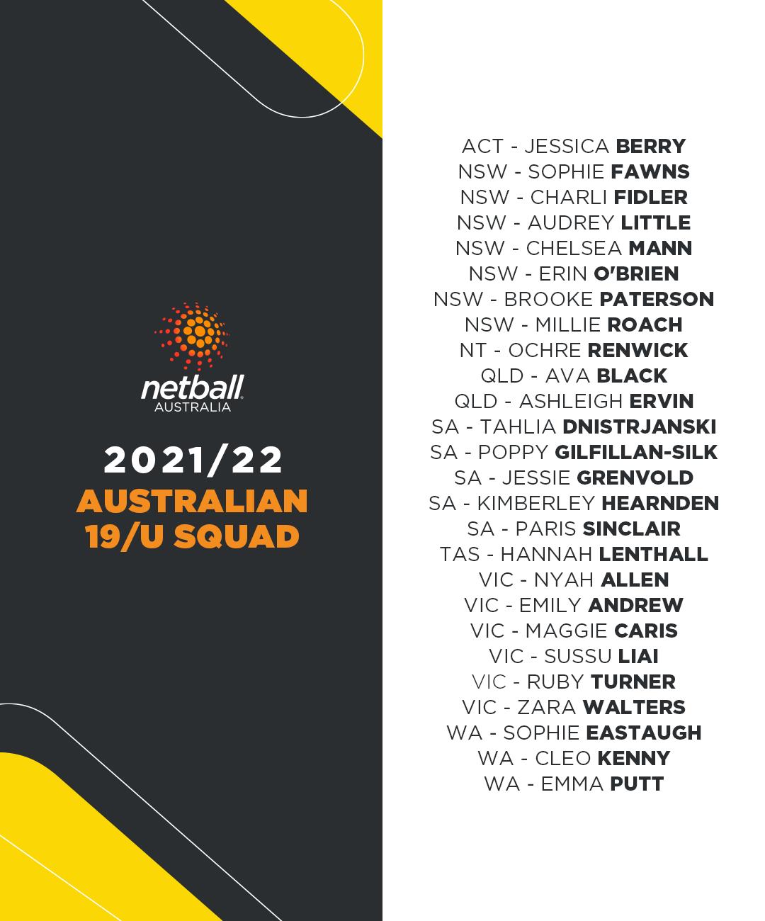 2021/22 19/U National Squad
